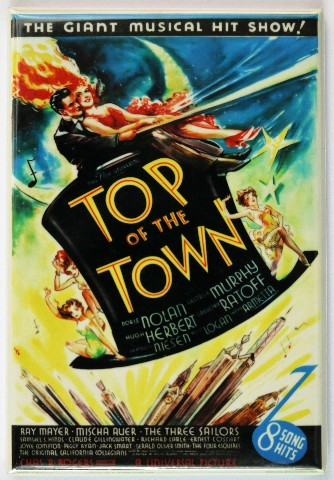 Top Of The Town Fridge Magnet Movie Poster Classic