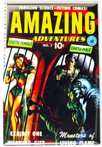 Amazing Adventures Comic Book Fridge Magnet Sci Fi Space