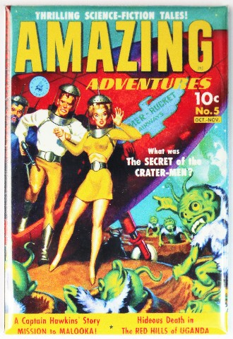 Amazing Adventures Comic Book Fridge Magnet Sci Fi Issue 5