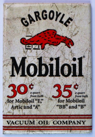Mobiloil Gargoyle Fridge Magnet Mobil Oil And Gas Vintage