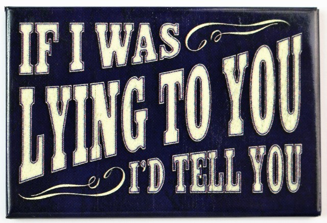 If I Was Lying To You I D Tell You Fridge Magnet Office