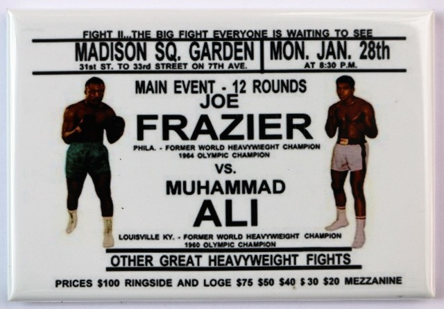 Joe Frazier Vs Muhammad Ali Madison Square Garden Fridge