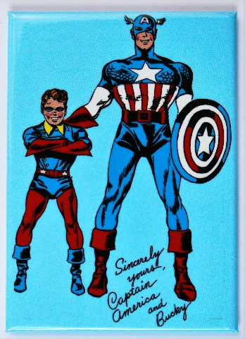 Captain America And Bucky Fridge Magnet Marvel Comics