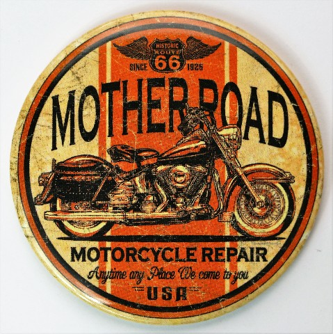 Route 66 Mother Road Motorcycle Repair Fridge Magnet