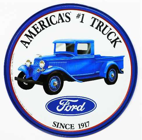 Ford Americas 1 Truck Tin Metal Sign F150 F Series Garage