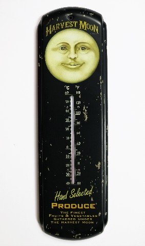 Harvest Moon Produce Metal Thermometer Garden Green House