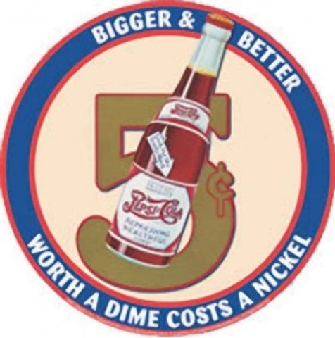 Bigger And Better Pepsi Cola Tin Metal Sign Classic