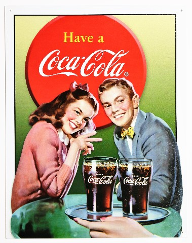 Chevy Dealer Milwaukee >> Have A Coca Cola Tin Metal Sign 1950s Diner Coke Date ...