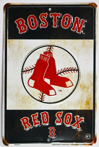 Boston Red Sox Metal Sign Mlb Baseball Al Big Papi Ortiz