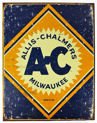 Allis Chalmers Tractors Milwaukee Tin Metal Sign Farming