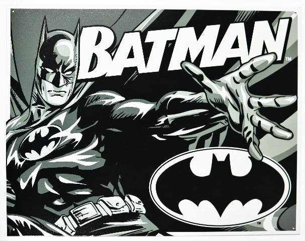 Batman Tin Metal Sign Dc Comics Comic Book Hero Dark