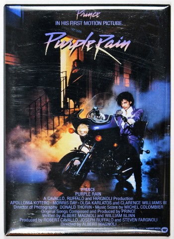 Purple Rain Movie Poster Fridge Magnet Prince Vintage