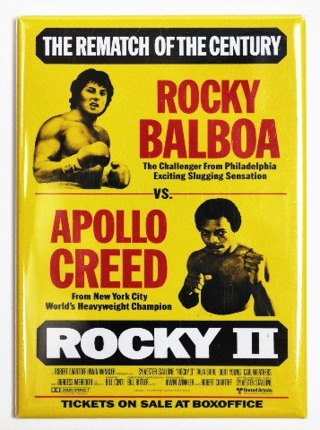 Rocky 2 Movie Poster Fridge Magnet Balboa Stallone Apollo