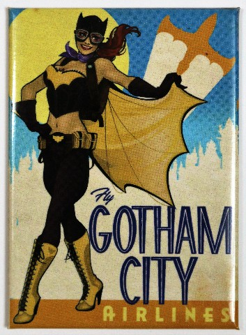 Gifts For Jeep Lovers >> Batgirl Bombshell Gotham City Airlines FRIDGE MAGNET Comic Book DC Comics Batman Villain