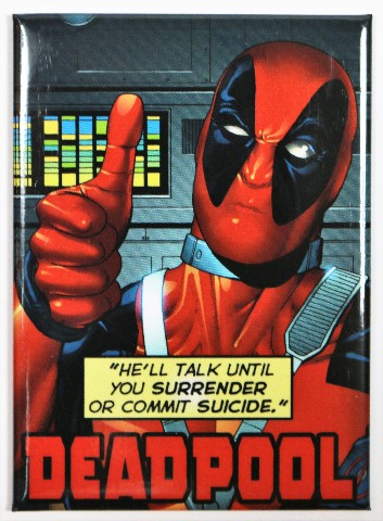 Deadpool Fridge Magnet Comic Book Marvel Comics Humor Funny