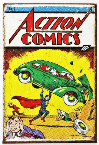 Patrick Buick Gmc >> Superman Issue 1 FRIDGE MAGNET Vintage Style Comic Book DC Comics Orgins