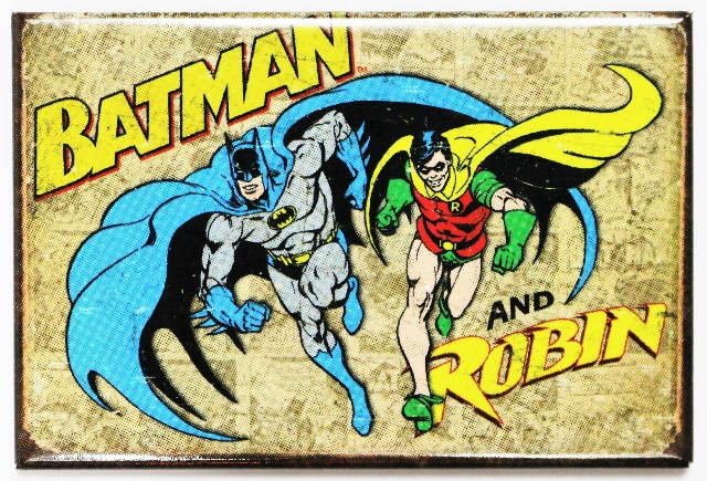 Batman And Robin Fridge Magnet Vintage Style Comic Book Dc