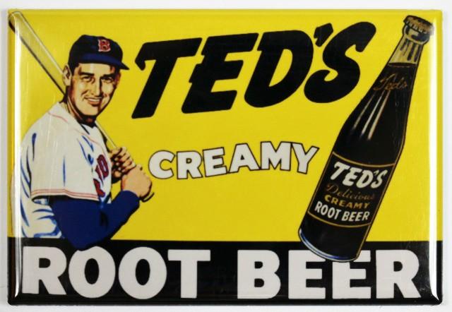 Teds Creamy Root Beer FRIDGE MAGNET MLB Baseball Red Sox