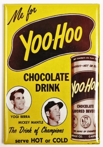 Yoo Hoo Chocolate Yogi Berra Mickey Mantel Fridge Magnet