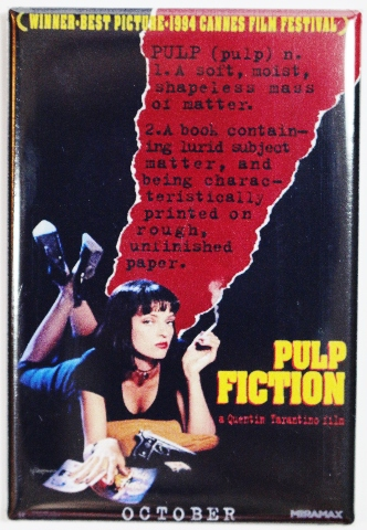 Pulp Fiction Movie Poster FRIDGE MAGNET Tarantino Travolta Crime Film