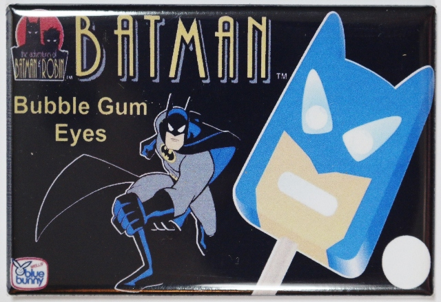 Blue Bunny Batman Bubble Gum Eyeballs FRIDGE MAGNET Vintage Style AD