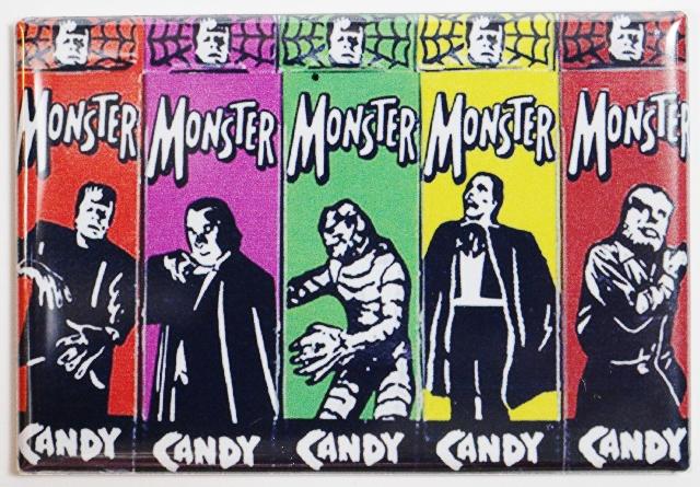 Universal Monster Candy FRIDGE MAGNET Vintage Style AD