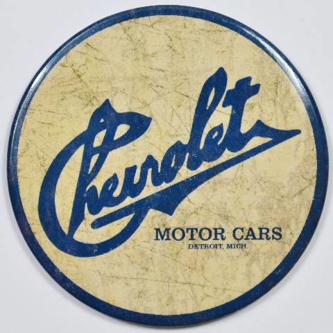 Chevrolet Motor Cars Round FRIDGE MAGNET Chevy Corvette Camaro Chevelle Nova E1