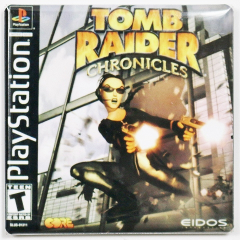 Playstation Tomb Raider Chronicles Fridge Magnet Capcom Video game Lara Croft