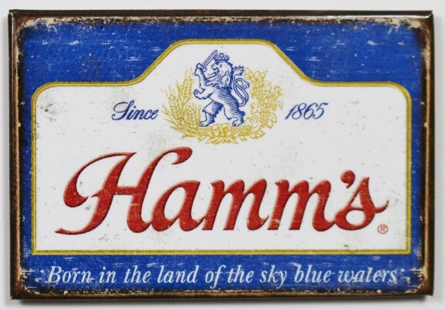 Hamms Beer FRIDGE MAGNET Brewery Label AD Bar Alcohol Bar Pub Lion King Sword i7