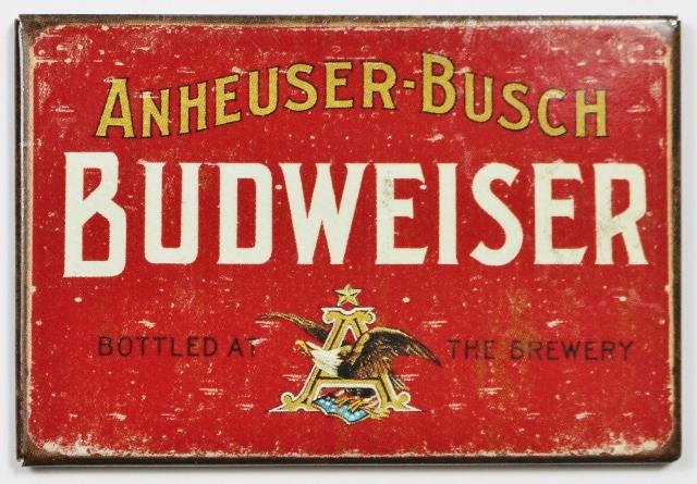 Anheuser Busch Budweiser Beer FRIDGE MAGNET Brewery Label AD Bar Alcohol