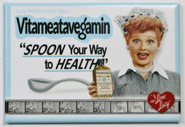 Ats Vs Cts >> I Love Lucy Spoon Your Way To Health FRIDGE MAGNET Classic ...