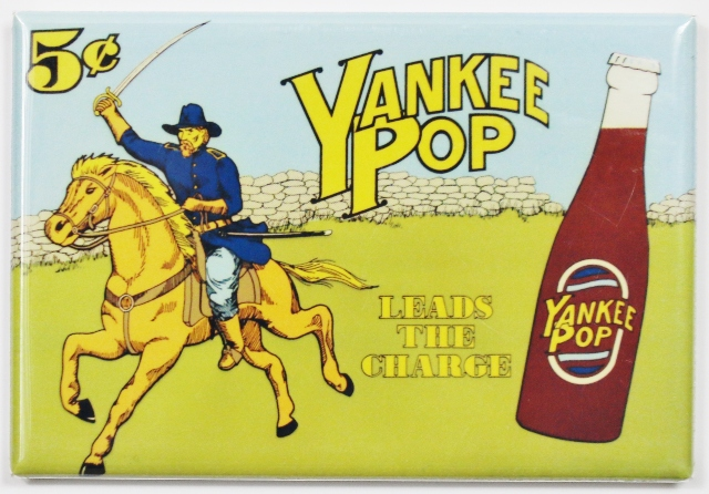 Yankee Pop Leads The Way Fridge Magnet Soda Cola Ad Union