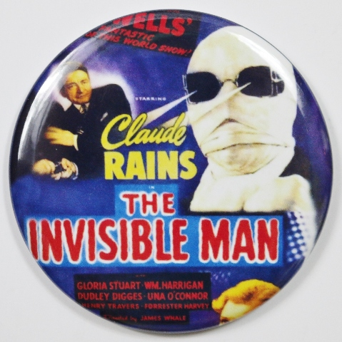 Frank Kent Cadillac >> The Invisible Man Movie Poster FRIDGE MAGNET HG Wells Monster Film Horror 2 1/4