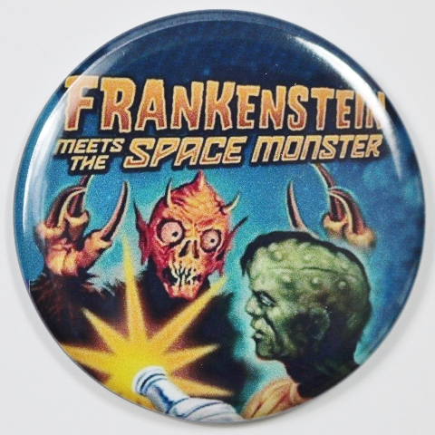 Frankenstein Meets The Space Monster Movie Poster Fridge