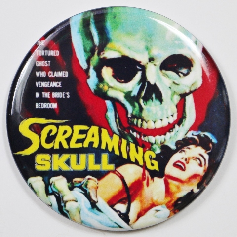 Screaming Skull Movie Poster FRIDGE MAGNET Monster Film Sci Fi Horror 2 1/4 Inch