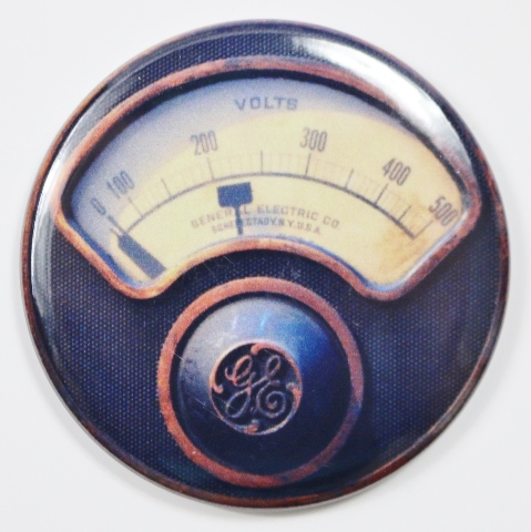 Frank Kent Cadillac >> General Electric GE Steampunk Gauge FRIDGE MAGNET Meter Vintage Style 2 1/4