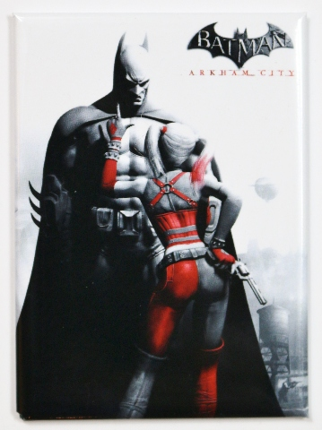 Batman Arkham City Harley Quinn Fridge Magnet Dc Comics Batmobile Gotham Comic Book Dark Knight