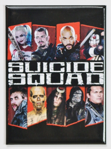 suicide squad joker harley quinn fridge magnet dc comics
