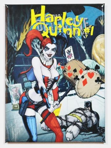 Harley quinn 1 joker fridge magnet dc comics suicide squad batman