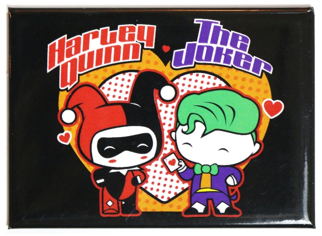 Chibi Harley Quinn and The Joker FRIDGE MAGNET DC Comics Batman