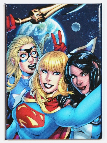 Supergirl and Stargirl FRIDGE MAGNET DC Comics Bombshells Batman Superman