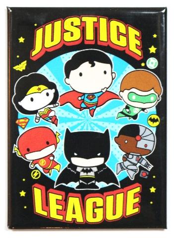 Chibi justice league fridge magnet dc comics batman superman wonder