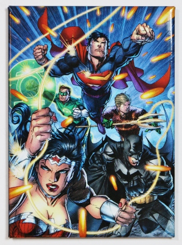 Justice League Fridge Magnet Dc Comics Batman Superman