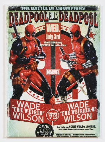Deadpool Vs Deadpool Fridge Magnet Marvel Comics Wade Wilson