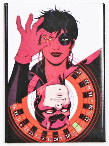 domino and daredevil fridge magnet marvel comics comic book