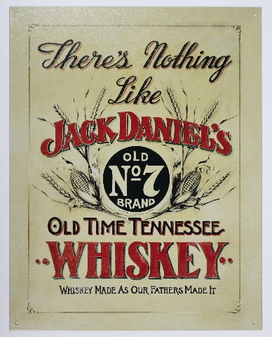 Jack Daniels Tennessee Whiskey Tin Sign Man Cave Bar Beer