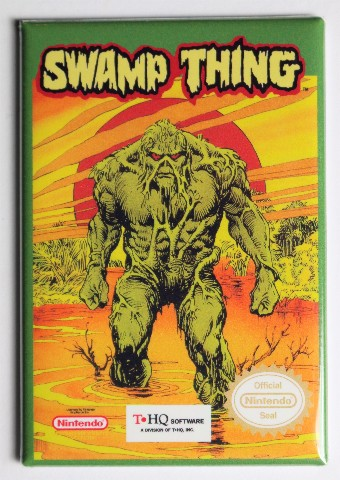 NES Swamp Thing FRIDGE MAGNET Video Game Box Nintendo DC Comics