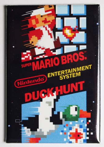 Nintendo Super Mario Bros w/ Duck Hunt FRIDGE MAGNET Video Game Box Classic NES