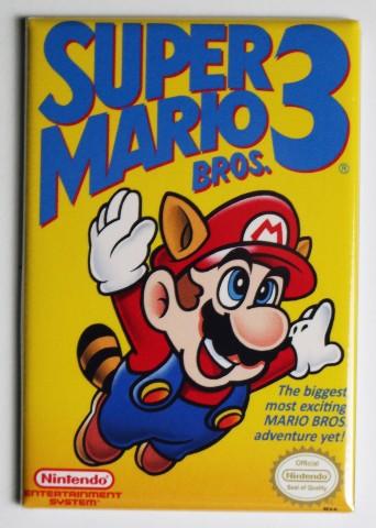 Nintendo Super Mario Bros 3 FRIDGE MAGNET Video Game Box Classic NES