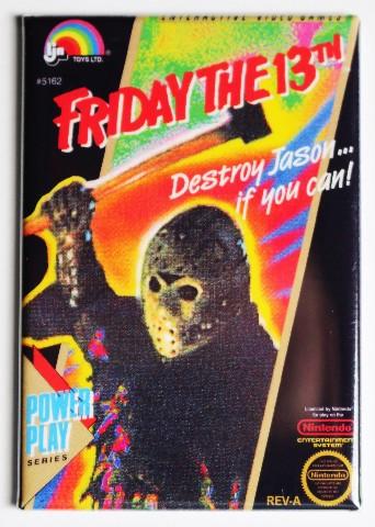Nintendo Friday the 13th FRIDGE MAGNET Video Game Box Classic NES